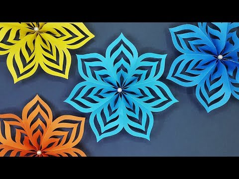 How to Make Paper Stars for Christmas Decoration | DIY Christmas Snowflakes