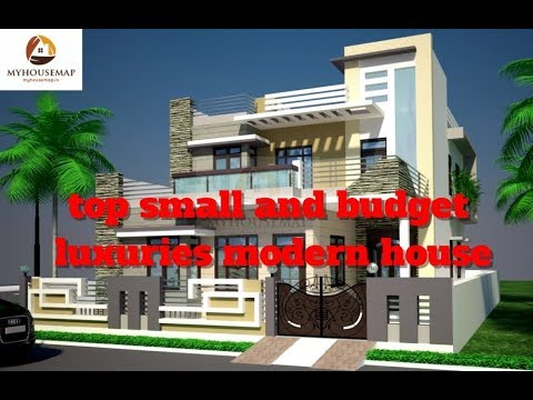 Top Small And Budget Luxuries Modern House Front Elevation 2017