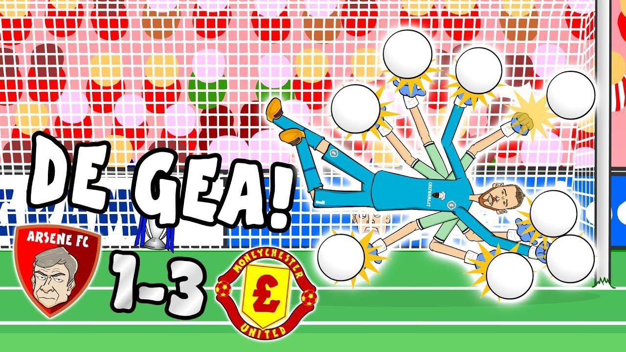 de-gea-saves-the-day-arsenal-vs-man-utd-1-3-parody-goals-highlights-2017