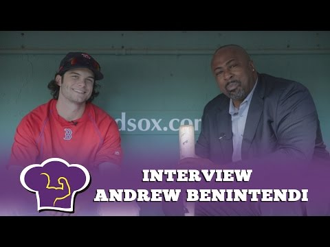 Andrew Benintendi talks about his pre-game drills