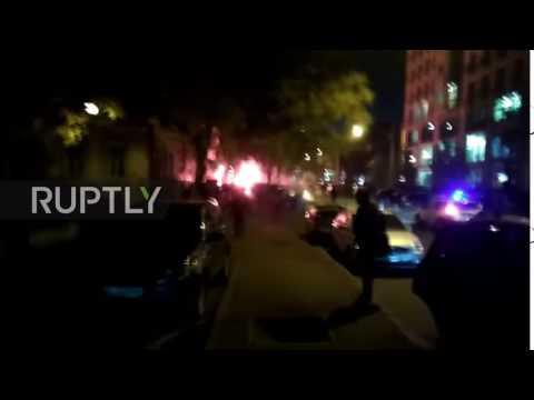 Ukraine: Dutch and Ukrainian football fans scuffle on streets of Odessa