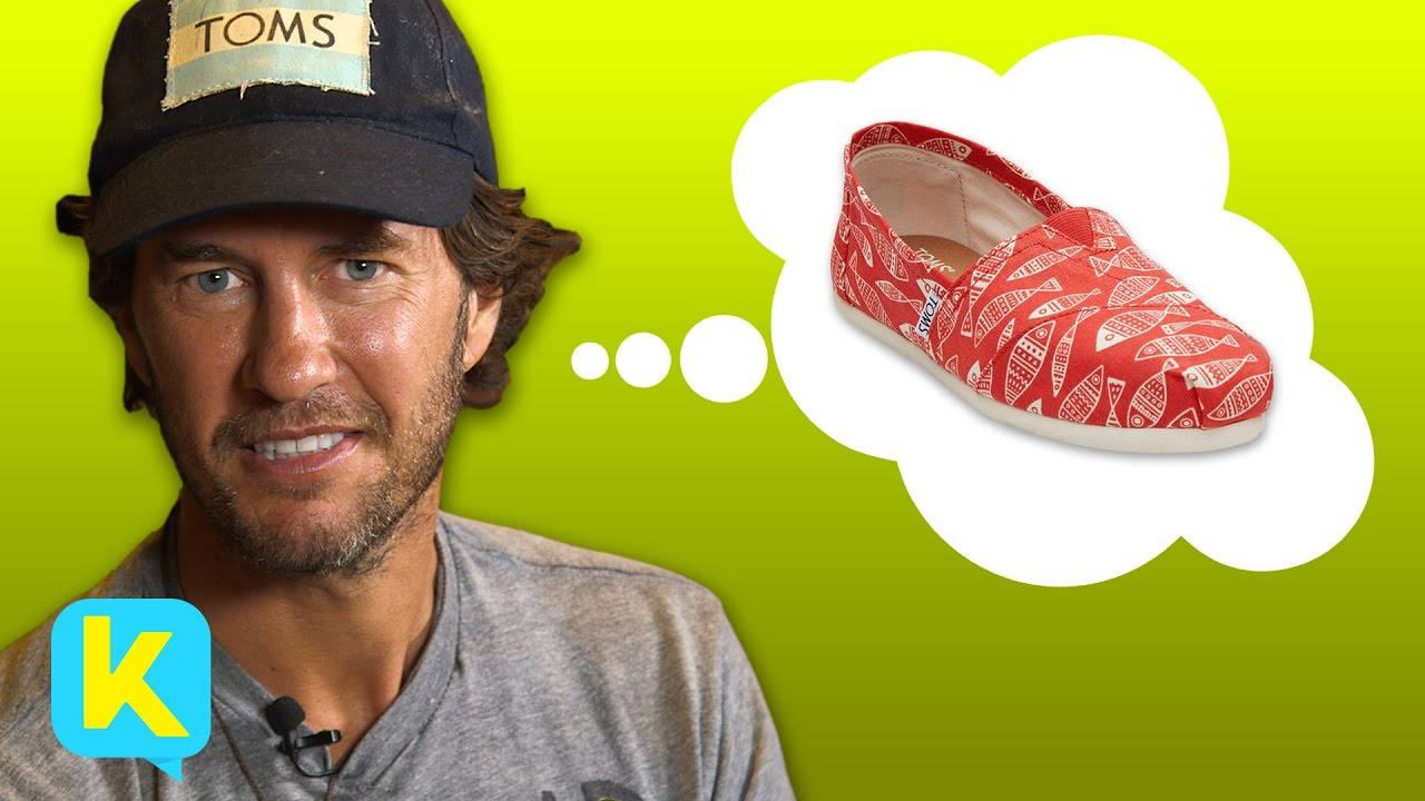 5a36668f8a8 Kidspiration meets TOMS Chief Shoe Giver Blake Mycoskie - YouTube