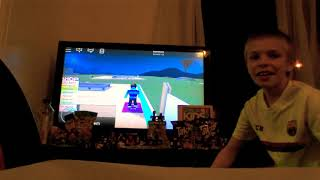 Roblox and unboxing!!!