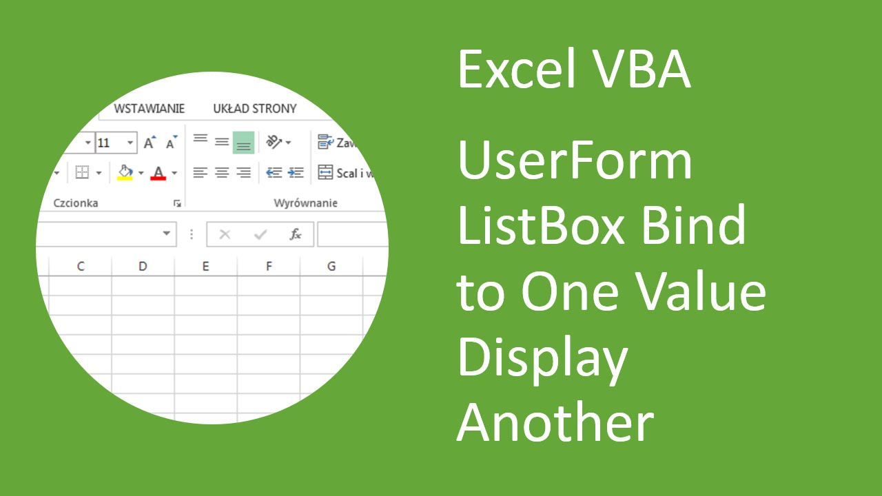Excel VBA UserForm ListBox - Bind to One Value but Display Another