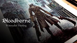 ll Bloodborne ll - Watercolor painting (aquarelle) - Drawing