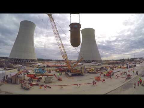 Vogtle Unit 3 Reactor Vessel Timelapse