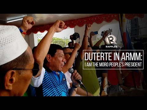 Duterte in ARMM: I am the Moro people's president