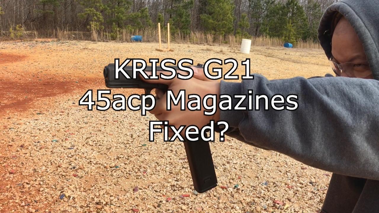 KRISS Glock 21 Mag Extension Problem RESOLVED?
