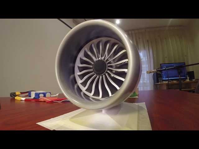 This 3D-Printed Working Model of a 787's Jet Engine Has