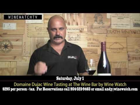 Domaine Dujac Wine Tasting at The Wine Bar by Wine Watch - click image for video