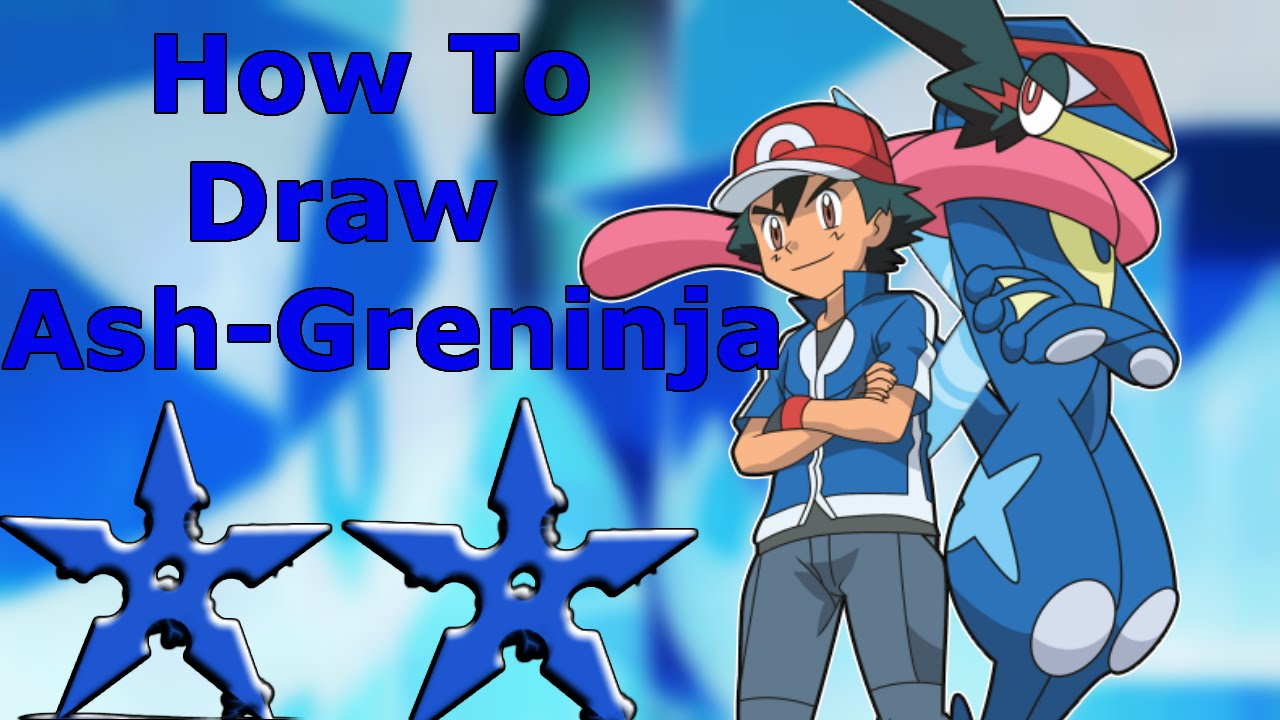 Uncategorized How To Draw Ash From Pokemon how to draw ash greninja from pokemon x and y youtube y