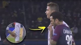 Download Video ►Dani Alves did something strange to Cristiano Ronaldo during match PSG vs Real Madrid 2-1 MP3 3GP MP4