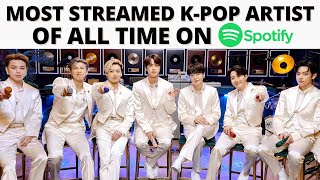 Most streamed K-pop artists on Spotify of all time - most listened artist spotify 2019