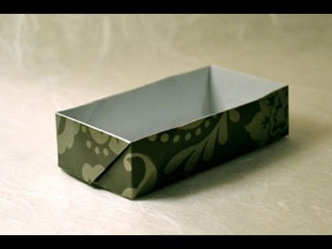 Origami Rectangular Box Instructions Fun