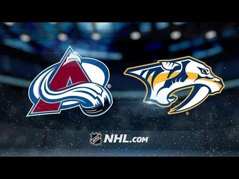 Colorado Avalanche Vs. Nashville Predators | NHL Game Recap | October 17, 2017 | HD