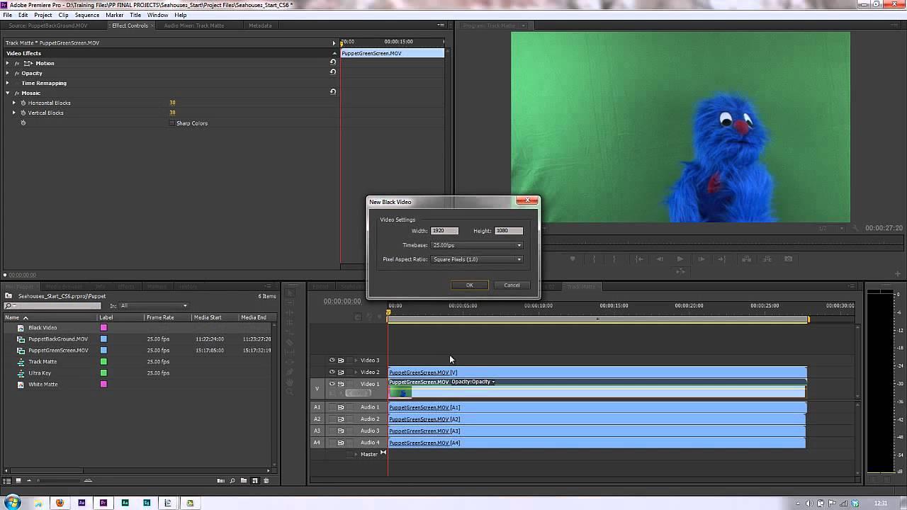 Premiere Pro CS6 Techniques: 97 Track Matte Key - YouTube