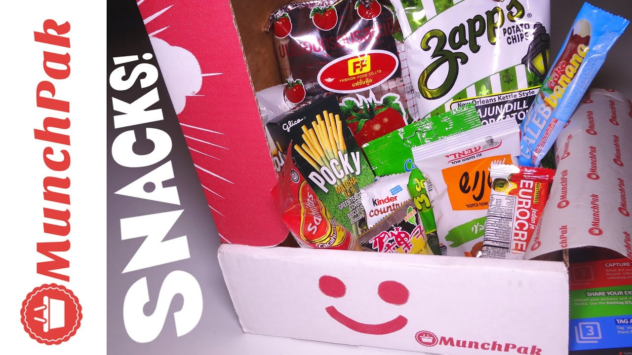 Tasting Munchpak Subscription Box Snacks And Candy From