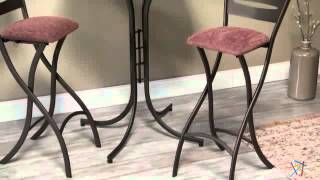 Innobella Destiny 32 In. Round Chocolotto Wood Pub Folding Table With Stools - Product Review Video
