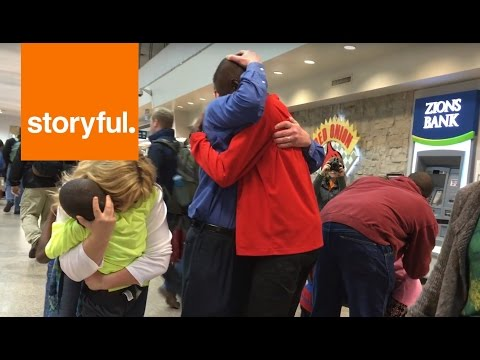Tearful Moment Adoptive Family Reunites After Three-Year Wait (Storyful, Inspiring)