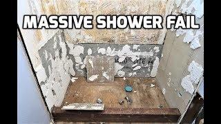 House FLIP Gone Wrong Massive Shower Fail