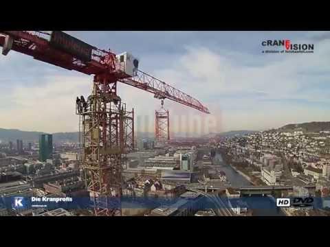 Kaufmann Kranservice, Wilbert WT200e, Klettern von 90 auf 134m.