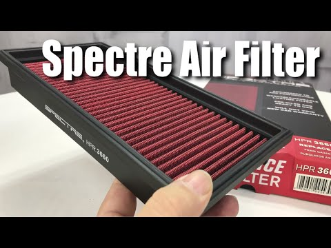 Spectre Performance reusable high performance automotive air filter unboxing