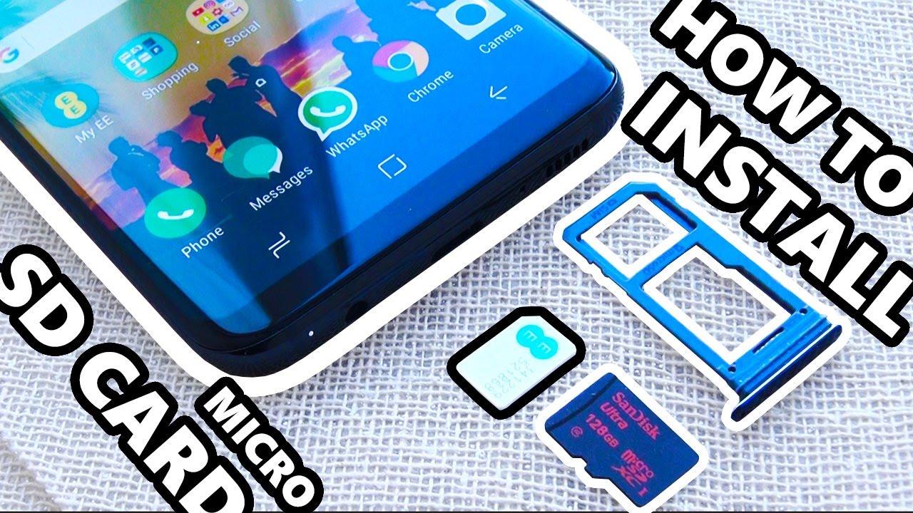Samsung Galaxy S8 Sd Karte.How To Install Micro Sd Card Samsung Galaxy S8 Increase Space