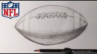How to Draw a Superbowl Football - Easy Drawings