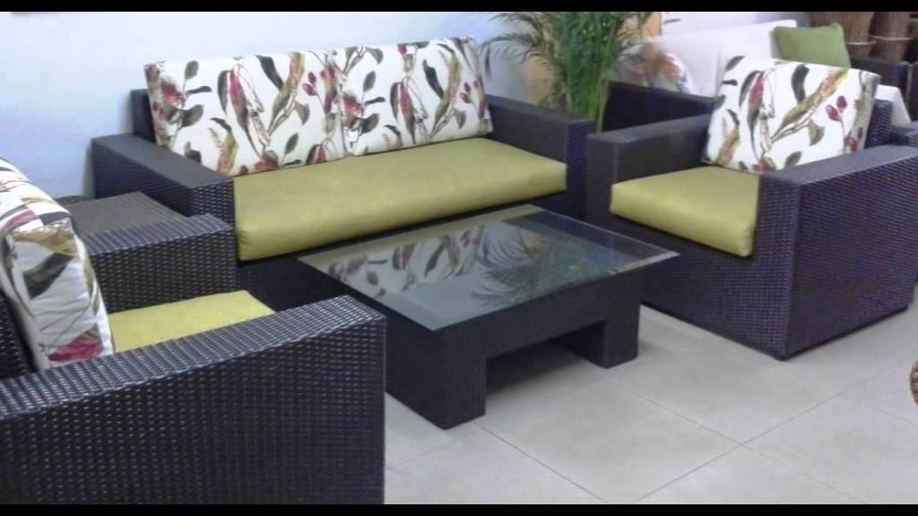Muebles campestres en mimbre guadua y bamb youtube for Muebles de mimbre