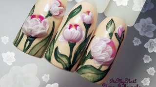 🌸Обьемный цветы на ногтях🌸3D цветы на ногтях🌸Дизайн ногтей гель лаком🌸Nail Design Shellac🌸