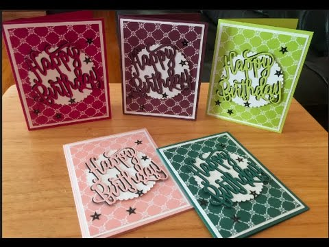 Stampin Up 2017 2019 In Color Birthday Cards Youtube