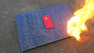 Red iPhone 7 Plus Over 10 000 MATCHES! Really Fire Resistant?