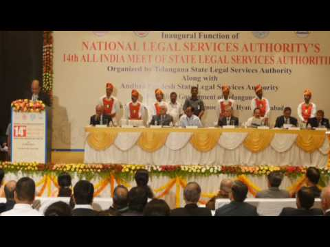 14th all india meet of state legal services authorities in Hyderabad
