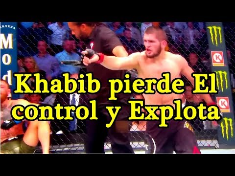 Khabib vs Mcgregor Momento Exacto de la pelea Despues del combate UFC 229