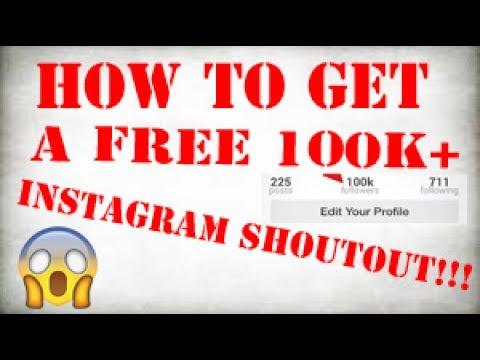 instagram shoutouts free