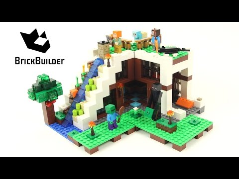 Lego Minecraft 21134 The Waterfall Base - Lego Speed Build