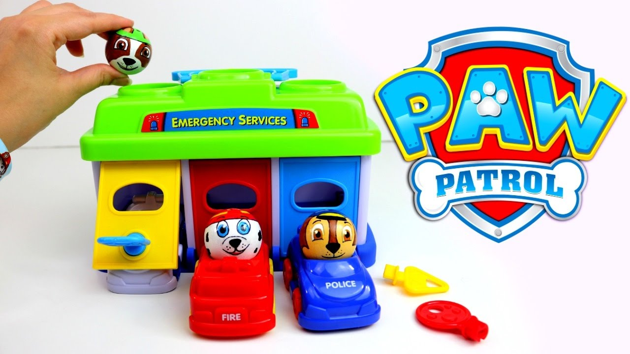 86d4dcf2afe80 Paw Patrol Toy Cars Garage with Preschool Toys - YouTube