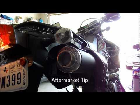 DRZ400S Exhaust Tip Comparison