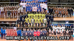 Top 10 World Ranking in Men's Volleyball as of October 2019
