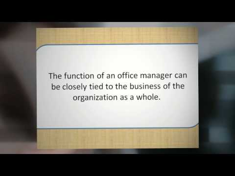 What Exactly Does An Office Manager Do