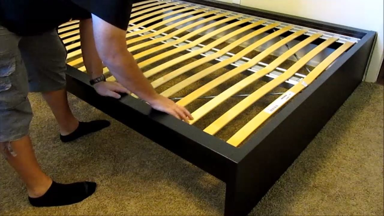 ikea malm high bed assembly detailed youtube