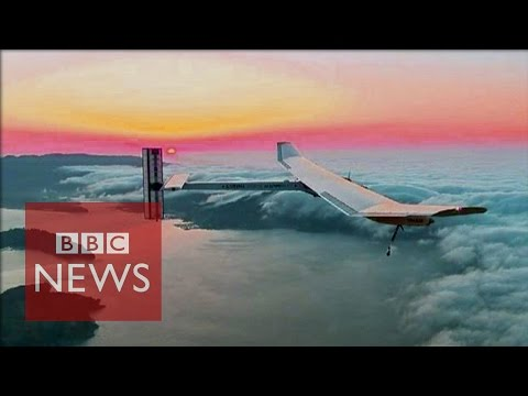 Solar-powered plane set for global flight