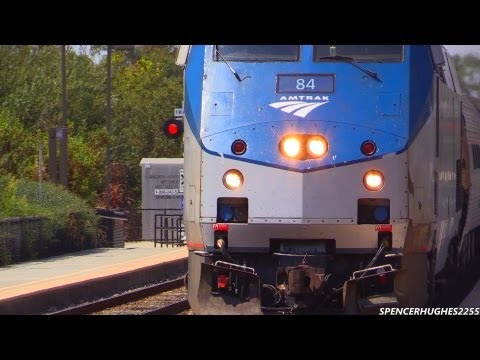 Thumbnail: Amtrak Trains - (Featuring P42DC #84) Downtown San Diego & Sorrento Valley, CA + 3 BONUS SHOTS !!!