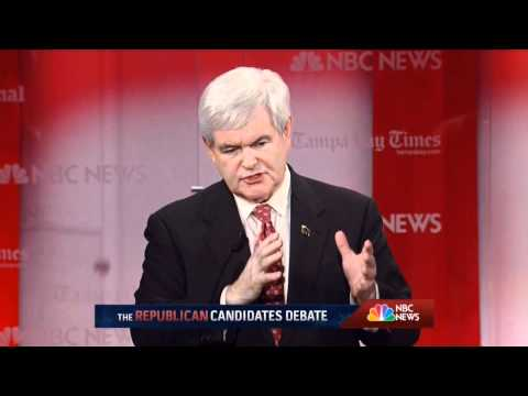 NBC News - Republican Candidates Debate @ University of S. Florida in Tampa, FL - January 23, 2012
