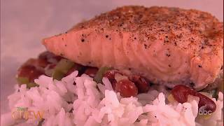 Carla's Cajun Salmon with Red Beans and Rice | The Chew