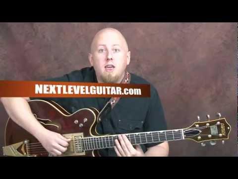 How to play Elvis Presley inspired guitar Rock n Roll Rockabilly song Hound Dog style rhythm n licks