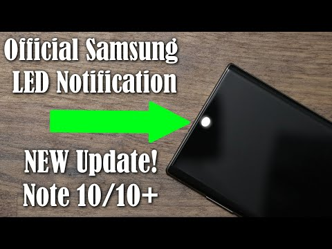 Galaxy Note 10 Plus - OFFICIAL LED Notification On Camera Hole Is HERE (NEW Update)