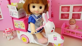 vuclip Delivery Bike baby doll car toys surprise eggs baby doli play