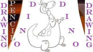 SPEED DRAWING: How to draw a Dinosaur DINO Easy - The Flintstones - Cartoon Network | PENCIL