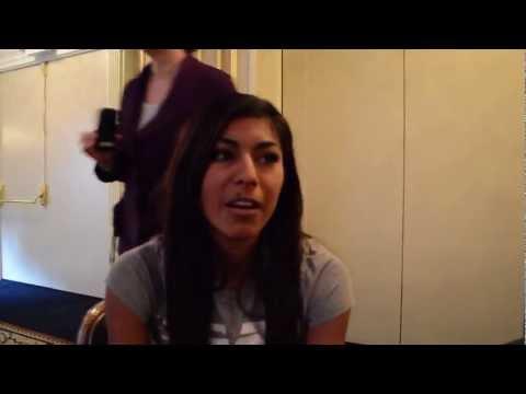 2013 New Balance Indoor Grand Prix Press Conference - Brenda Martinez